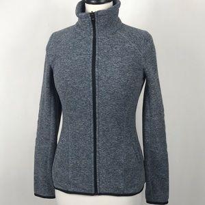 Lolë Fleece Jacket Gray Zip Small